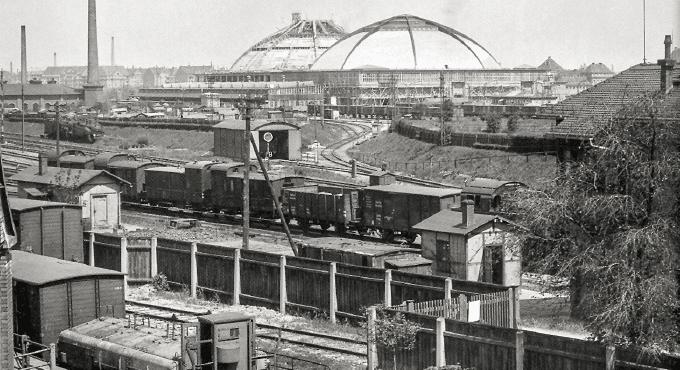 Güterbahnhof und Anschluss Großmarkthalle 1925, Atelier Hermann Walter / wikipedia